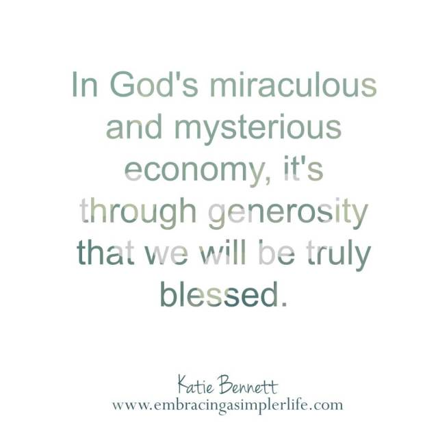 in God's miraculous economy
