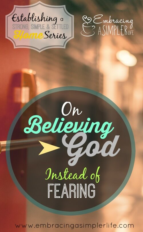 on believing God