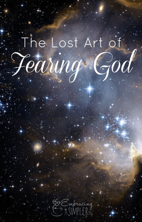 the lost art of fearing God