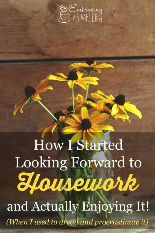 how I started looking forward to housework and actually enjoying it