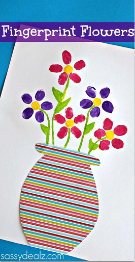 fingerprint-flower-craft-for-kids-