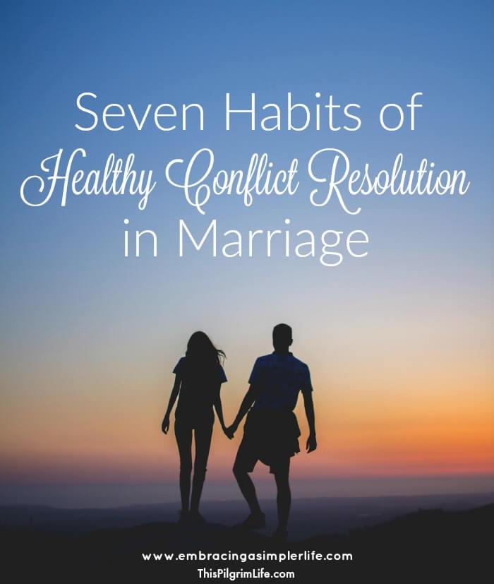 Healthy Conflict Resolution