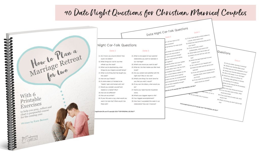 Get 90 Date Night Questions for Christian Married Couples for FREE ...
