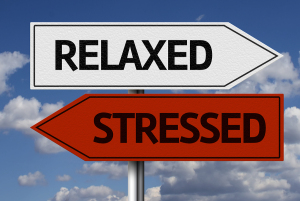Creative sign with the text - Relaxed x Stressed