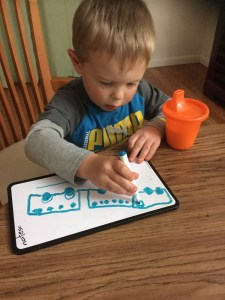 Z drawing a train