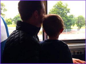 Z and Daddy on the train