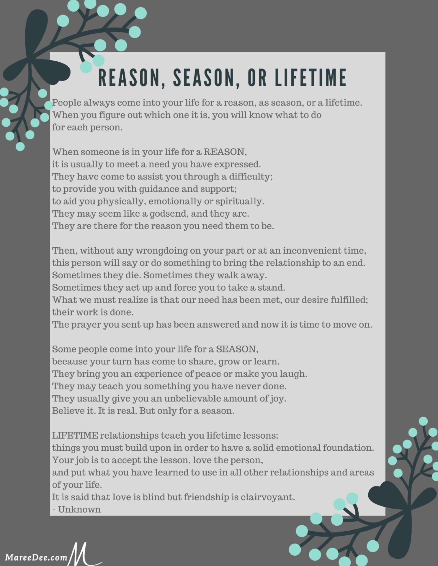 It's just a photo of Reason Season Lifetime Poem Printable inside life experience