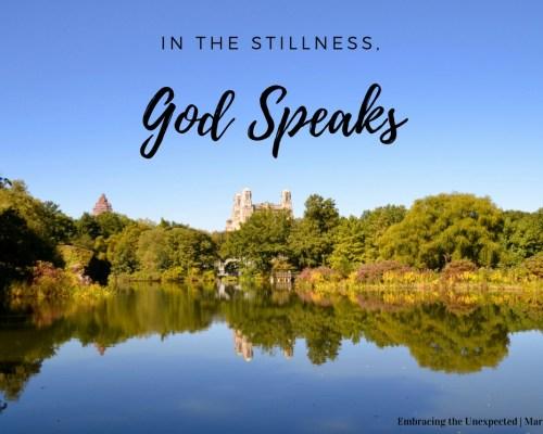In the Stillness,God Speaks