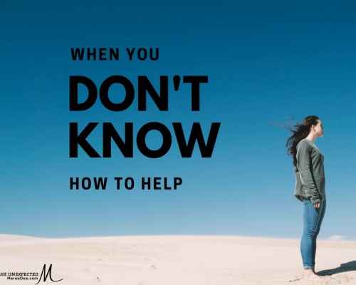 When you do not know how to help, what do you do?  We are a family impacted by mental illness. It came like a thief in the night, robbing us of all normalcy and turning our lives upside down.We had no idea what hit us. Many friends walked away out of fear or not knowing how to help. What kind of friend would you be?