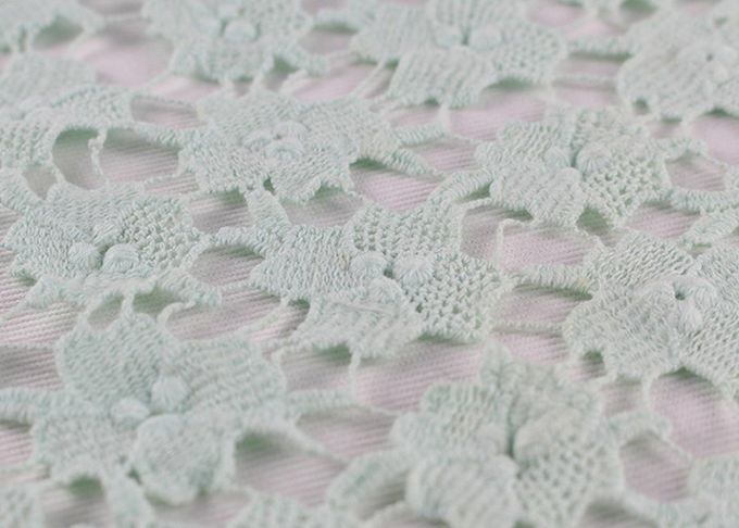 Chemical Polyester Dying Lace Fabric 3D Embroidery Guipure