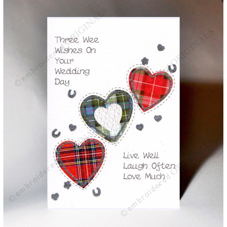 scottish wedding card three