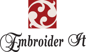 Embroider It Logo Square Black and Red