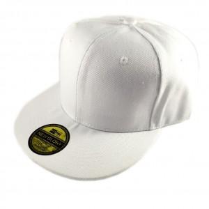 嘻哈帽素帽-白色(可調節)