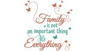 Family Is Not An Important Thing It's Everything Filled ...