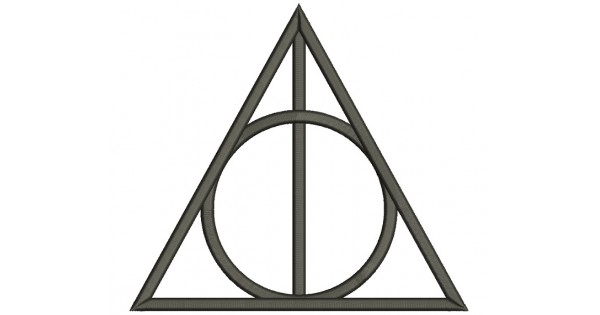 Deathly Hallows Symbol from Harry Potter Filled Machine