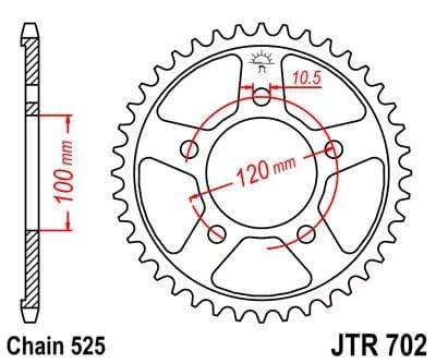 JT TAKARATAS 44 hampainen JTR702.44, Aprilia 750 SL Shiver