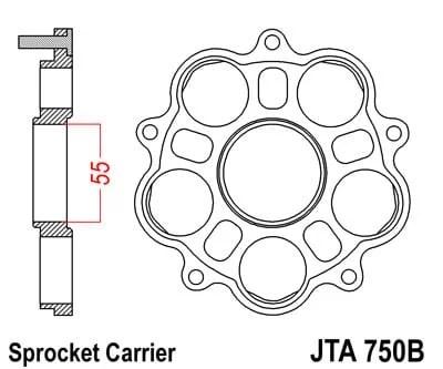 JT KIINNIKE JTA750B, JTA751 ja JTA752 takarattaille