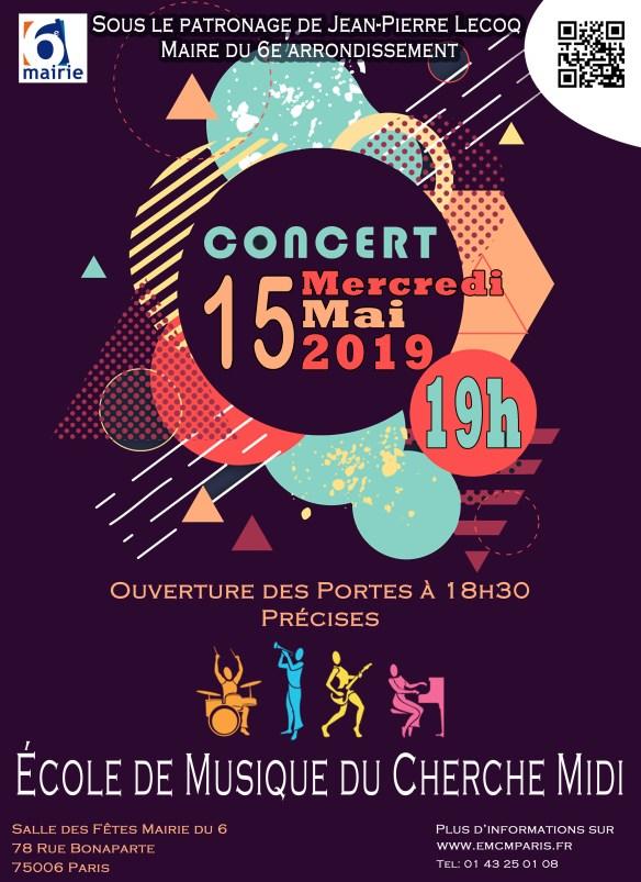 Concert 15 Mai 2019 Maire du 6ème Paris