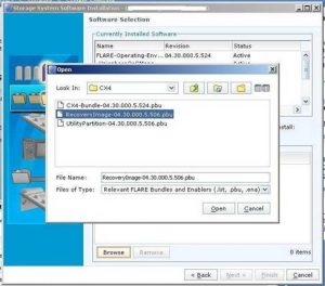 Figure 4.3 - Select Recovery Image
