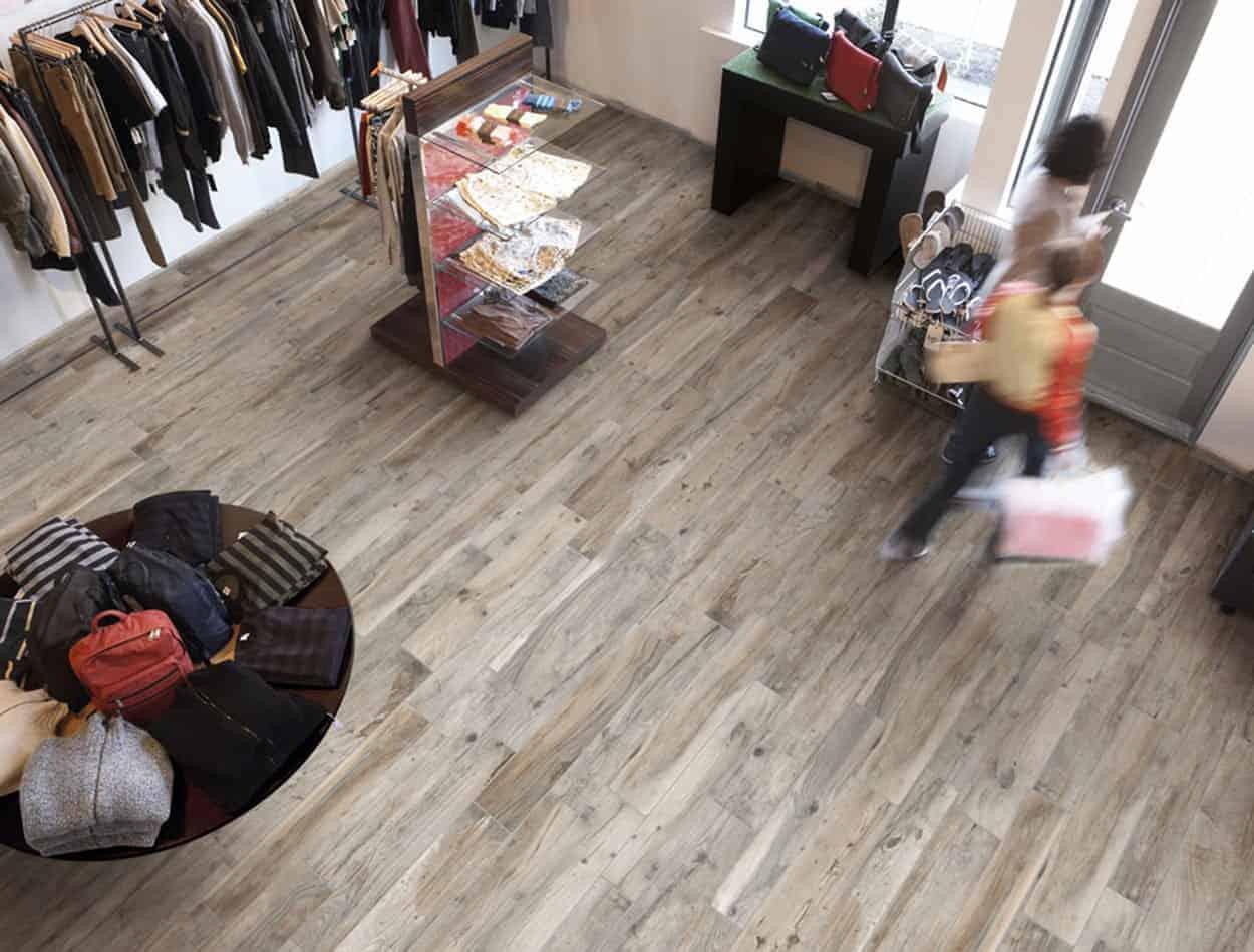 soft wood effect porcelain floor wall
