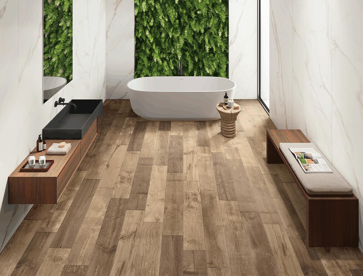 jungle beige matt wood effect floor tile