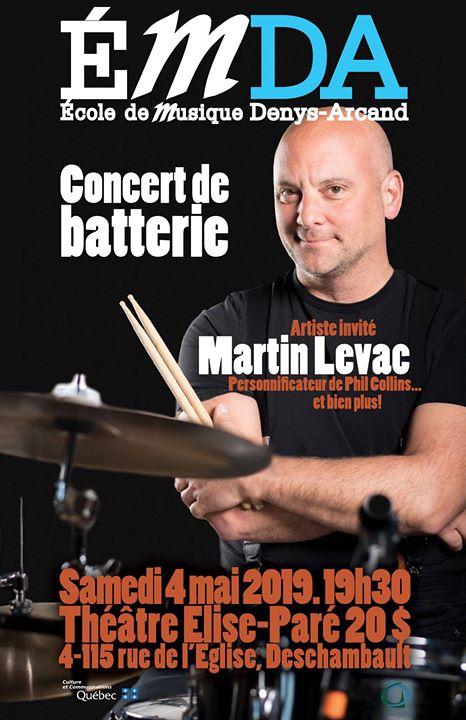 Concert de Batterie avec Martin Levac
