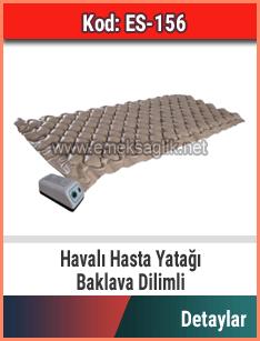 Havalı hasta yatağı baklava dilimli