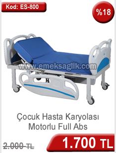 Motorlu çocuk hasta yatağı