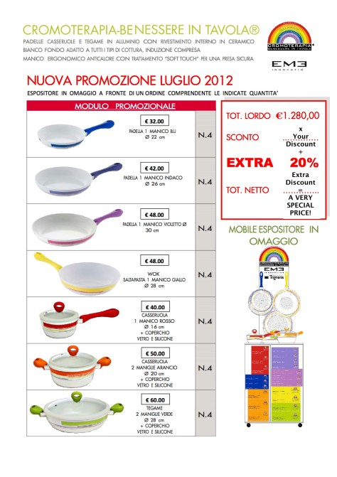 Promotion CROMOTERAPIA Cookware