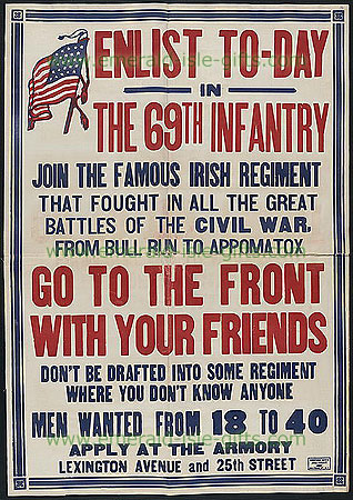 Irish Propaganda Posters  New York 69th Infantry