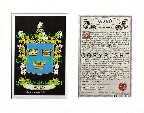 Heraldic Mounts  Ward Family Crest and History