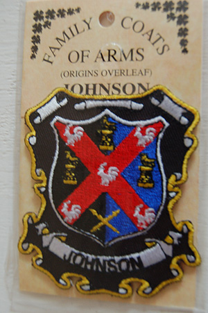 Embroidered Heraldic Patches  Johnson Embroidered Patch  Coat of Arms