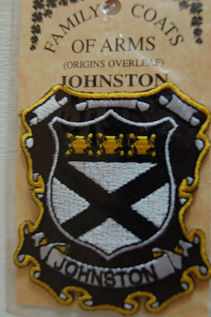 Embroidered Heraldic Patches  Johnston Embroidered Patch