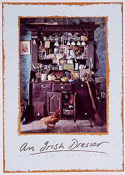 Irish Culture  Heritage  A Traditional Irish Dresser Large Poster