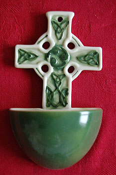 Water Fonts  Celtic Cross Irish Holy Water Font