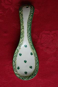 Spoons  Shamrock Kitchen Irish Spoon Rest