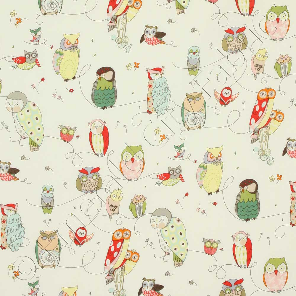 Alexander Henry In the Kitchen Spotted Owl Natural Fabric