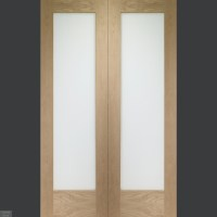 Buy Oak Pattern 10 Custom Made French Doors with Clear ...