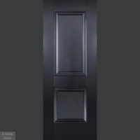 Buy Arnhem Black 2P Internal Door | Emerald Doors