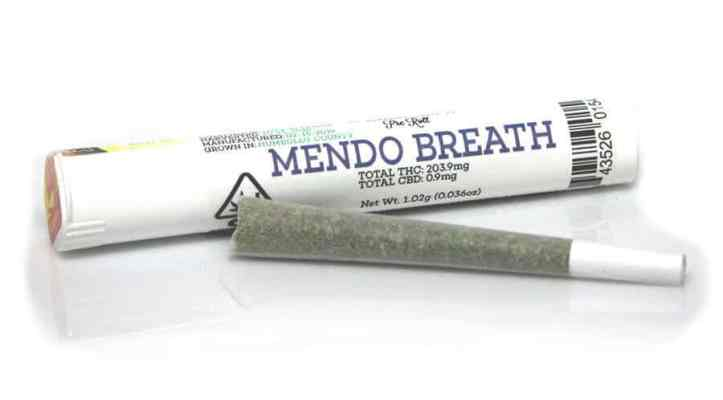 Mendo Breath pre-roll joints and packs of joints