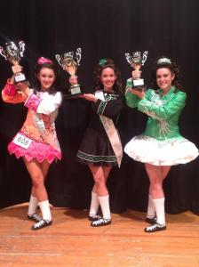 Maiti, Shannon, and Veronica hold their trophies from the Mid-Atlantic Championships