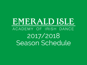 2017/2018 Season Schedule Now Available!