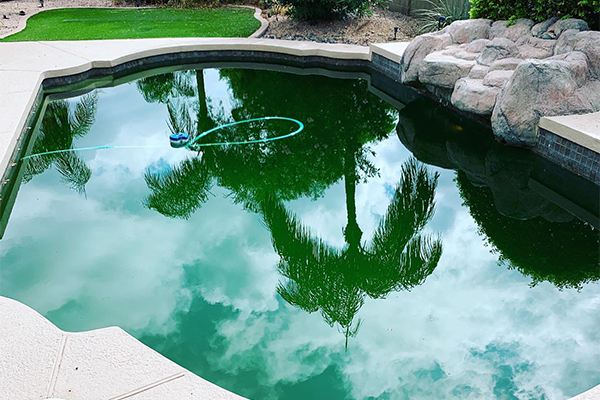 dark pool water before acid washing