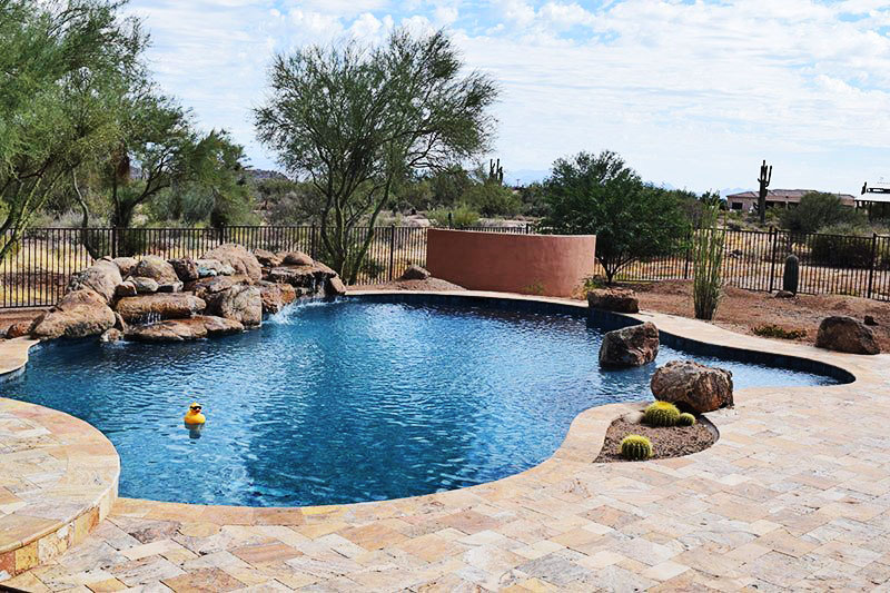 pool contractors custom pool construction project in az