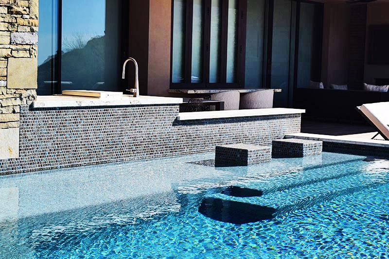 custom pool design swim up bar