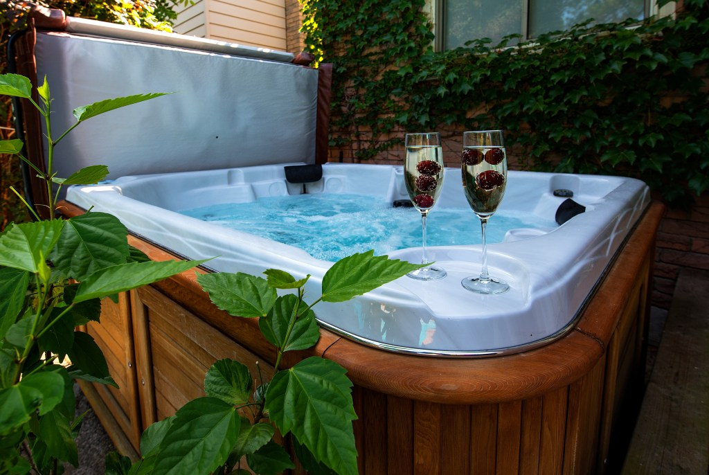 Above ground hot tub
