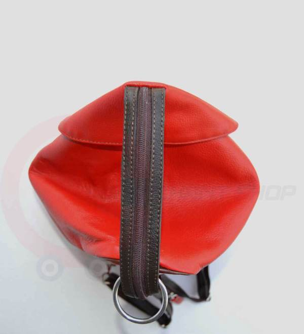 Student-Leather-Backpack-Red-Closed-Zip