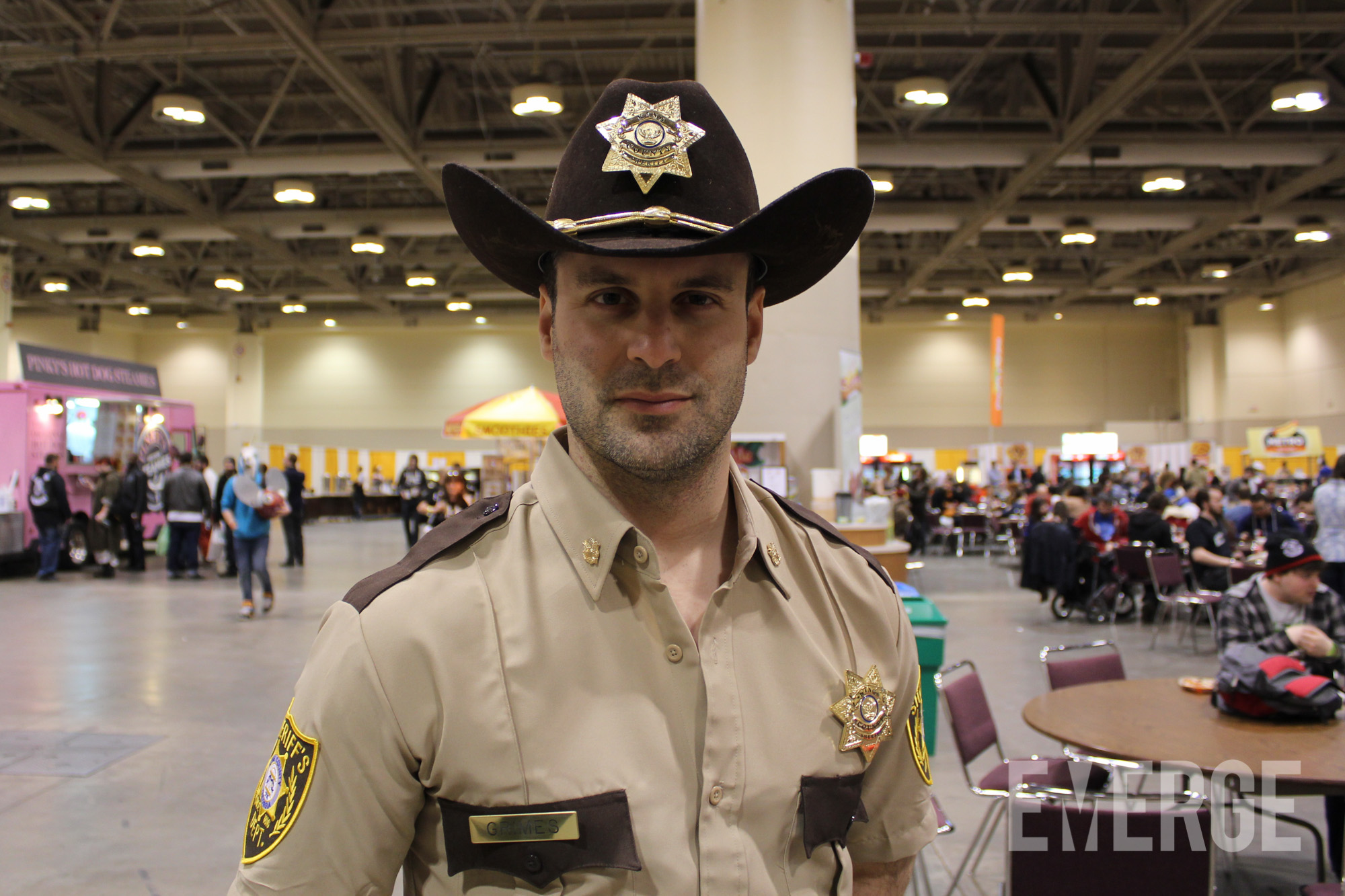 Rick Grimes from The Walking Dead, before all the blood and guts