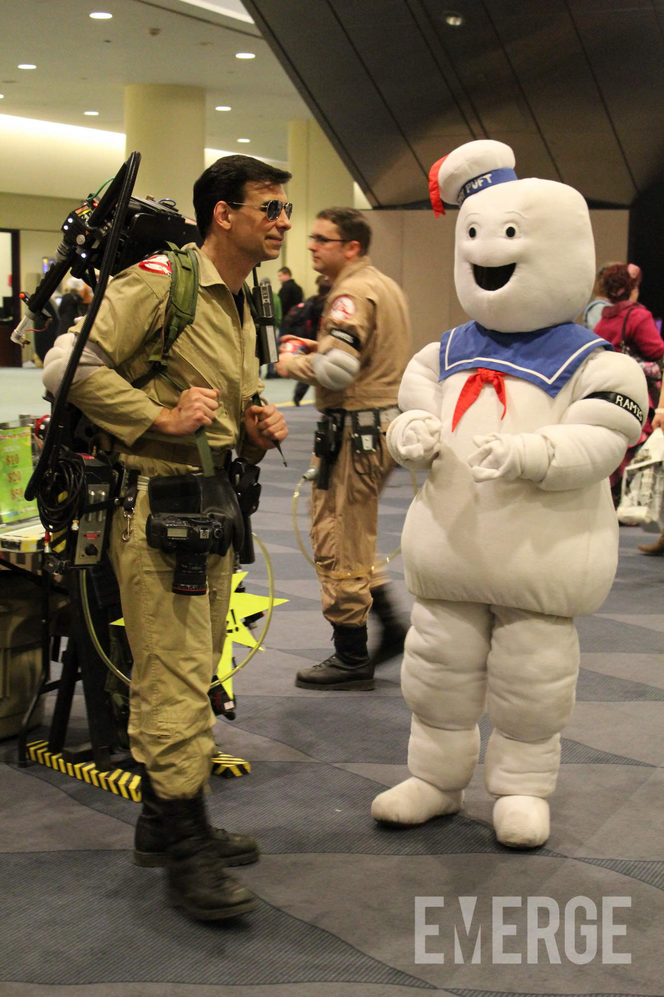 Moments before the Stay Puft Marshmallow man went on a rampage in New York, I wonder what the Ghost Busters said?