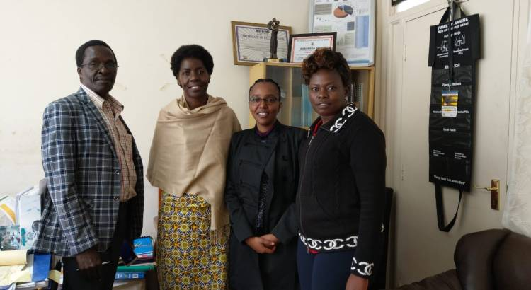 With Dr Etemesi the Chief Medical officer, Kakamega County